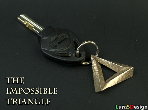 Impossible Triangle Pendant in Stainless Steel