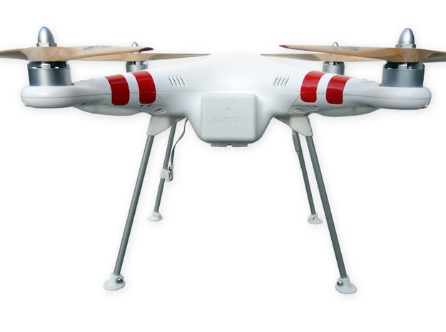 DJI Phantom Wide Landing Gear in White Strong & Flexible