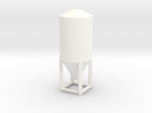'N Scale' - 8' Dia. -  20' Tall Tank in White Processed Versatile Plastic