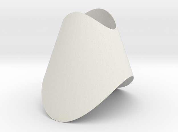 Pendant-ConeOvalCut in White Strong & Flexible