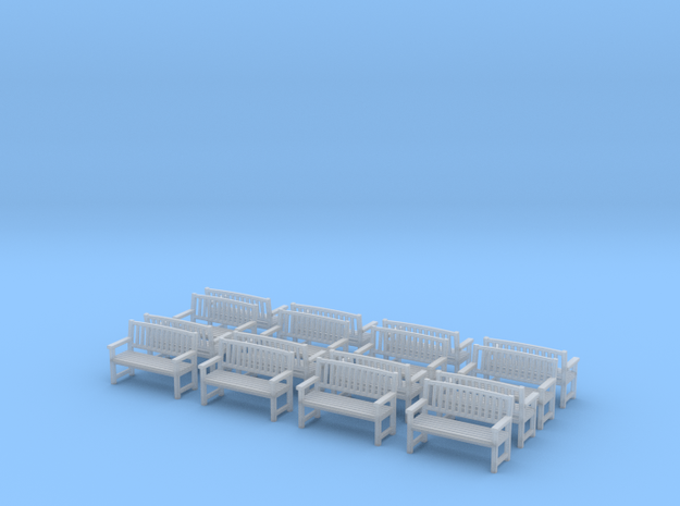 Bench type B - H0 ( 1:87 scale )16 Pcs set