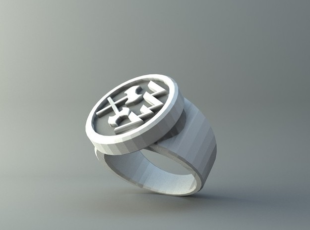 Prime Ring - Round Bade 2 in Raw Silver