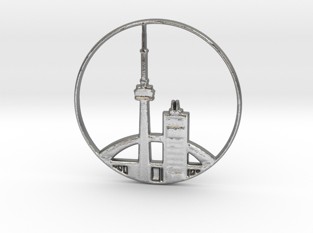 Toronto Pendant in Natural Silver