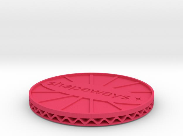 ^coaster shapeways 3d printed Shapeways Render - Pink Strong & Flexible Polished