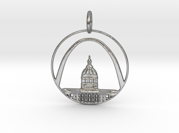 St. Louis Pendant With Loop in Natural Silver