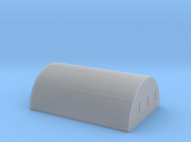 Nissen Hut 24ft Span 6 Bay N Gauge Brick Ends in Smooth Fine Detail Plastic
