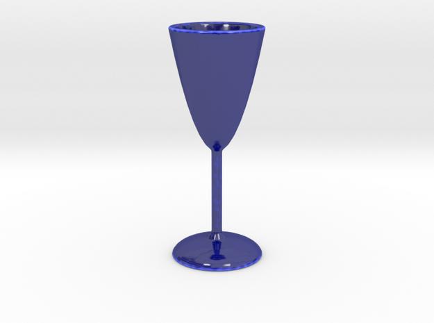 Parabolic Shot Glass in Gloss Cobalt Blue Porcelain