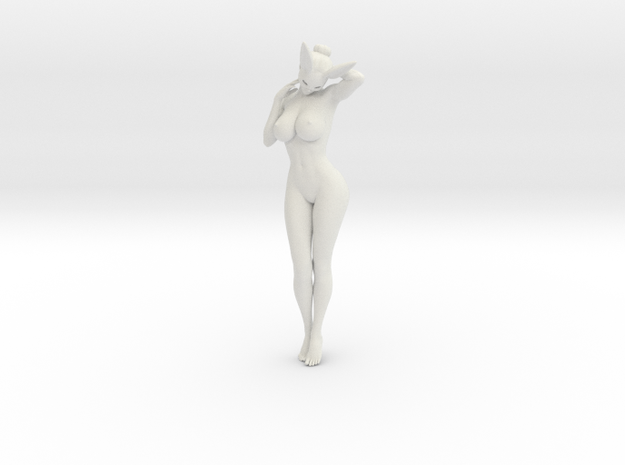 Bunny lady 008 1/10 in White Natural Versatile Plastic