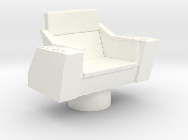 Bridge - Captain's Chair 09 in White Processed Versatile Plastic