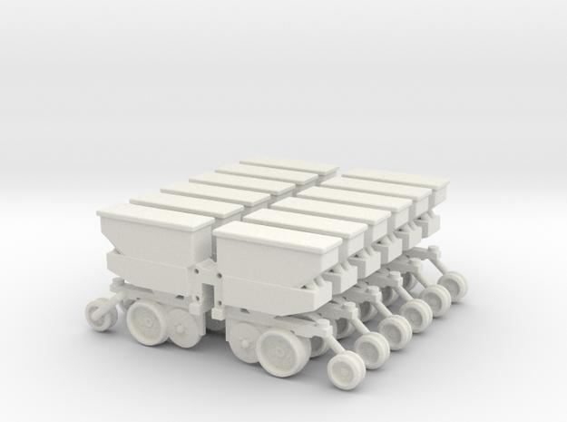 12 Rows For Deutz in White Natural Versatile Plastic