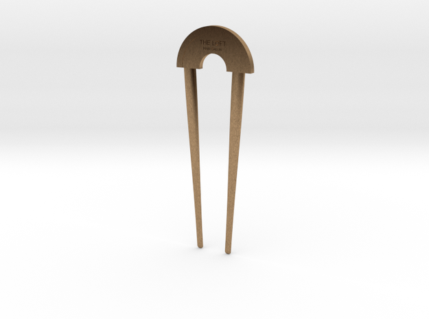 Hairpin - The Loft Hair Salon (shorter) in Raw Brass