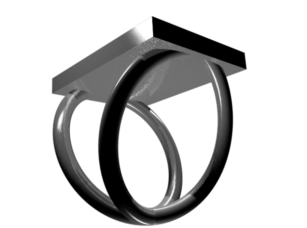 Aluminum Periodic Table Ring Size 6 3d printed CGI Render of The Ring From The Bottom