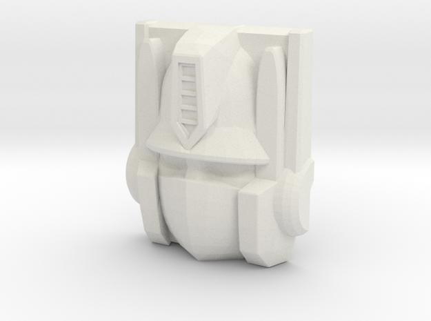 Optimus Prime Face, Sunbow (Titans Return) in White Natural Versatile Plastic