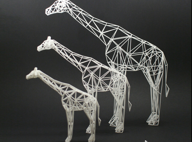 Digtial Safari- Giraffe (Large) 3d printed