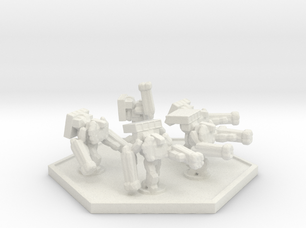 UWN Army Support Trooper (Hex) in White Strong & Flexible
