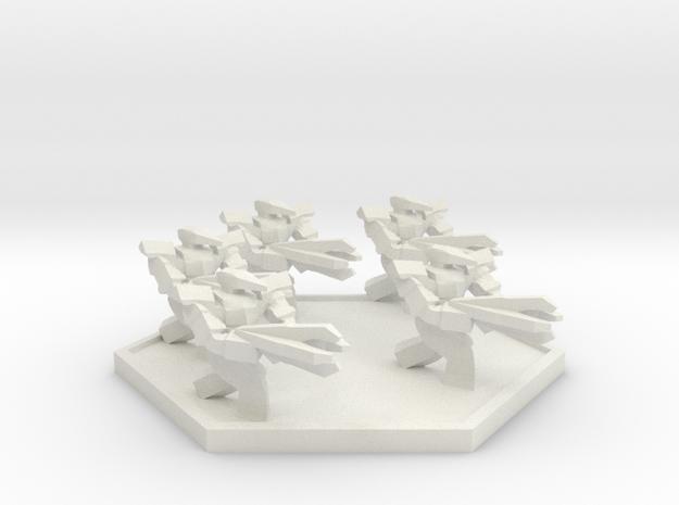 RF Flightless Squad (Hex) in White Natural Versatile Plastic