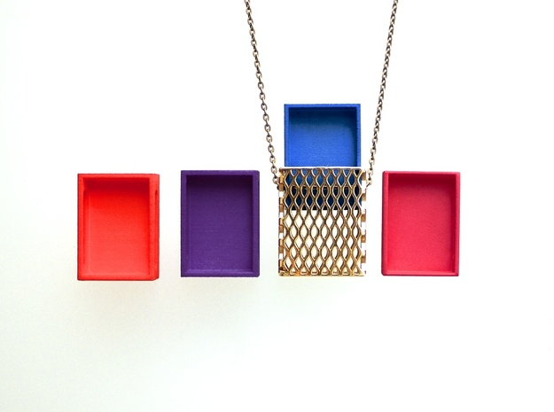 Drawer for Metal only - Matchbox Pendant in Red Processed Versatile Plastic