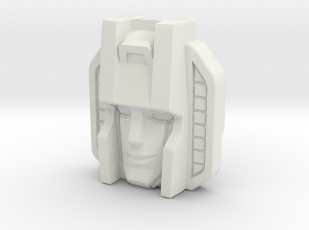 Starscream Face, Sunbow (Titans Return) in White Natural Versatile Plastic