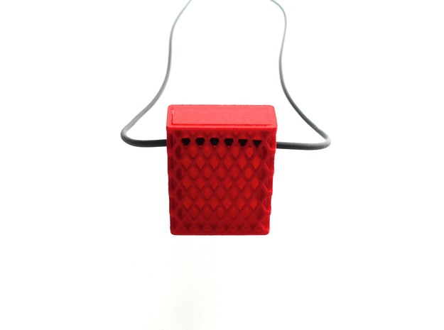 Matchbox Pendant in color 3d printed