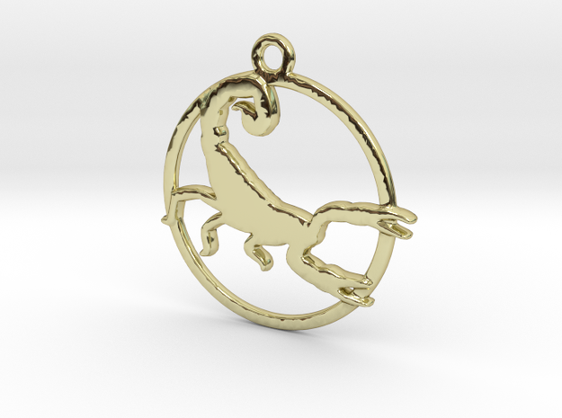 Scorpio Pendant in 18k Gold Plated Brass
