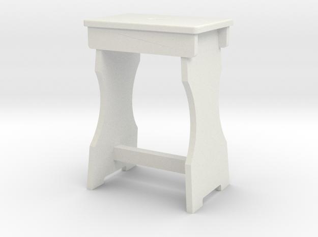 Shop Stool in White Natural Versatile Plastic: 1:13.71