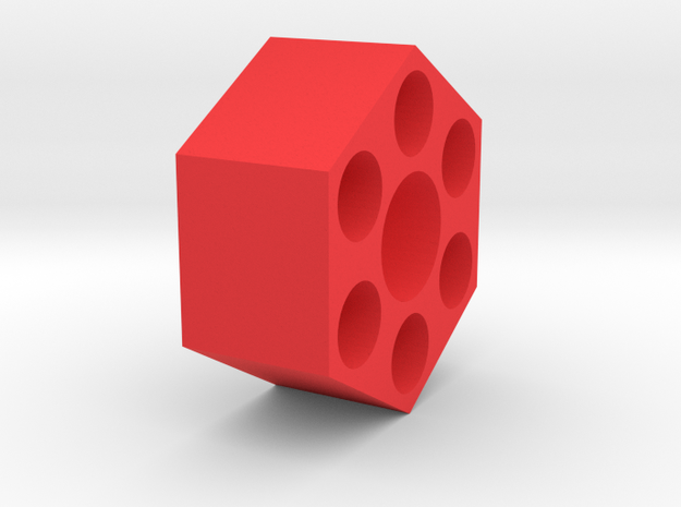 12mm Hex Wheel Adapter in Red Strong & Flexible Polished