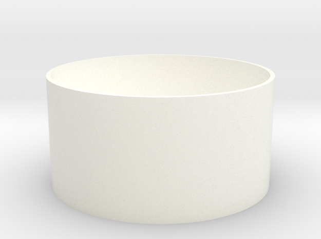 Coin Cup in White Processed Versatile Plastic