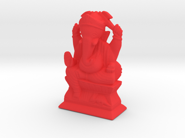 Ganesha in Red Processed Versatile Plastic