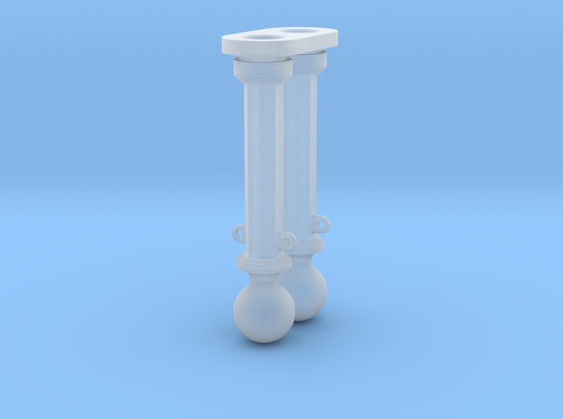 METAL HEX AND BALL BOLLARD in Frosted Ultra Detail