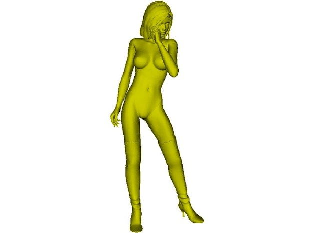 1/35 scale nose-art striptease dancer figure C
