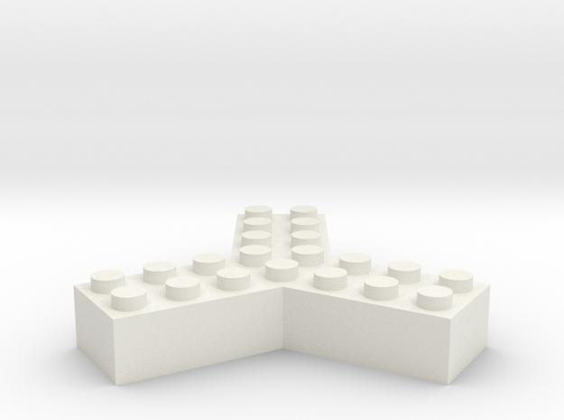 Trilego-2x4 in White Natural Versatile Plastic