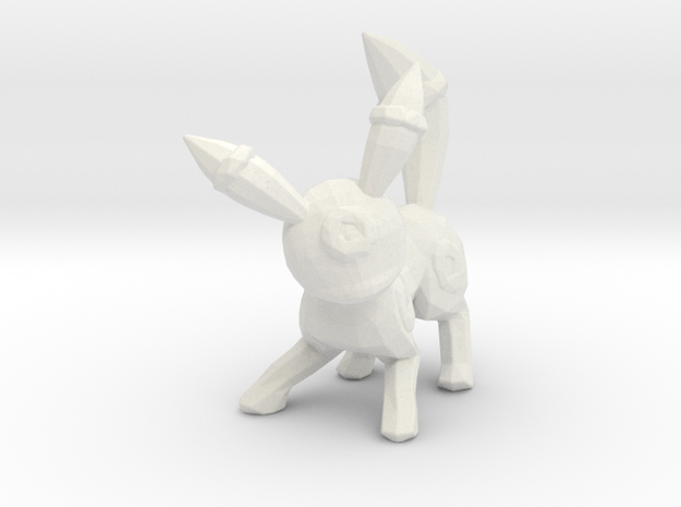 Umbreon in White Natural Versatile Plastic