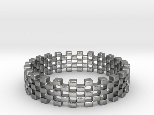 Continum Ring (US Size-4) in Natural Silver: 4 / 46.5