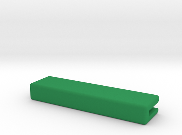Catacombs (3rd Ed) barrier supports - Straight in Green Strong & Flexible Polished
