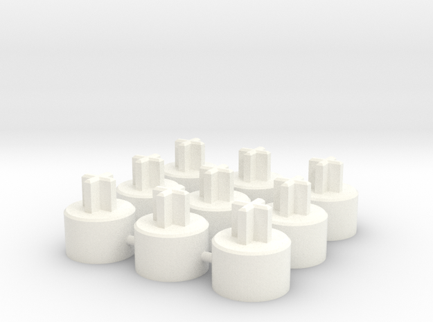 ALPS To Cherry MX Adapter - 9-up in White Strong & Flexible Polished