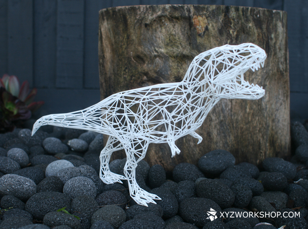 Dinosaur - T-Rex( Digital Extinction) in White Natural Versatile Plastic