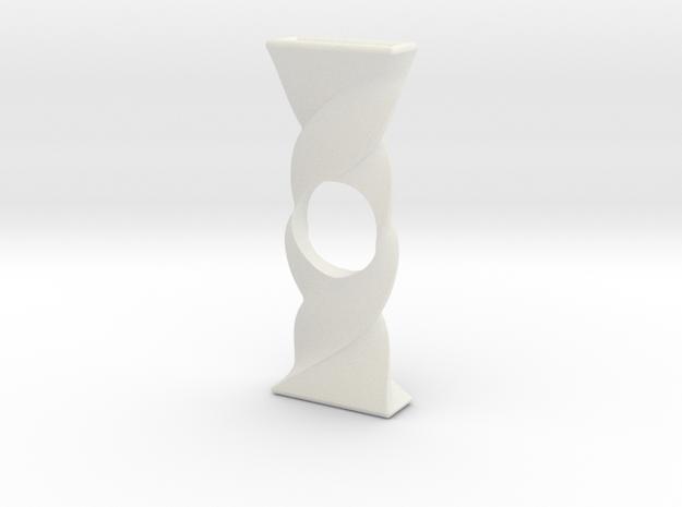 Twist Spinner in White Natural Versatile Plastic