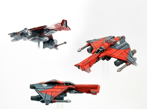 3-Pack Vaksai Fighter Variant 2B 1/270 in Smoothest Fine Detail Plastic