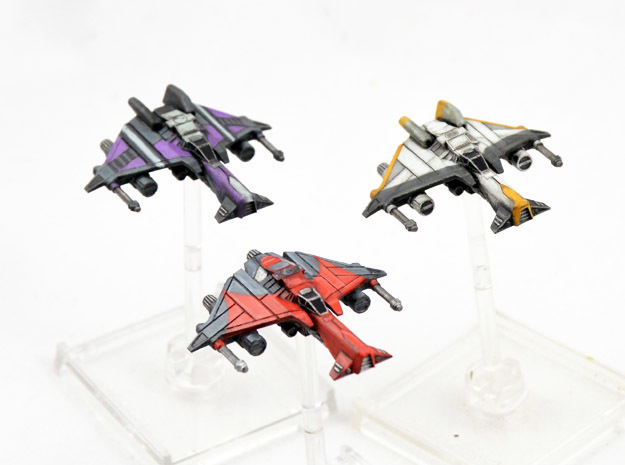 3 pack Vaksai Starfighter S2 Variants 1/270 in Smoothest Fine Detail Plastic