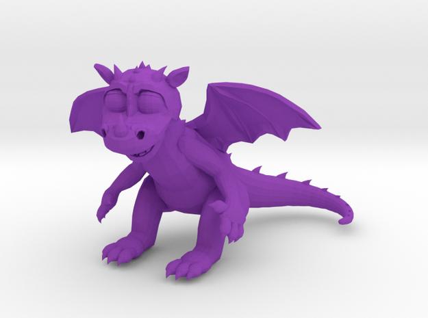 TheSilliestDragon3DMini in Purple Strong & Flexible Polished