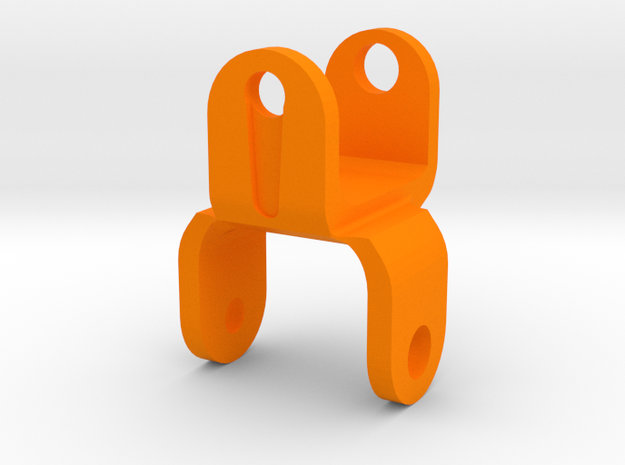 Quadra Bot - Middle Joint (Purchase x4) in Orange Strong & Flexible Polished