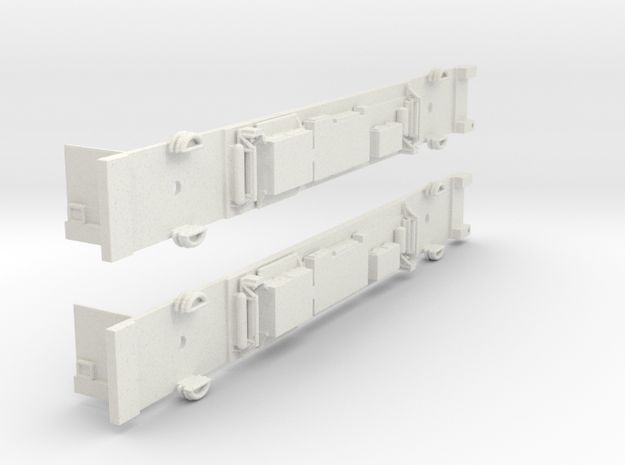 NSC1 - Siemens M Car Chassis Set in White Natural Versatile Plastic