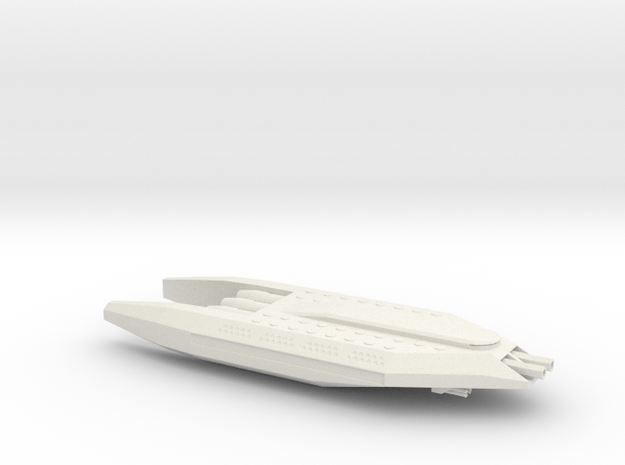 Hannibal-Class Cruiser in White Natural Versatile Plastic