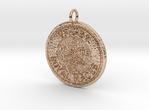VFA-27 Pendant in 14k Rose Gold Plated Brass