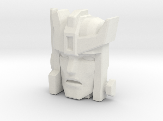 Autobot-X / Autobot Spike Face (Titans Return) in White Natural Versatile Plastic