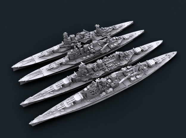 1/2400 WW2 Royal Navy Battlecruisers + Hood in Frosted Ultra Detail