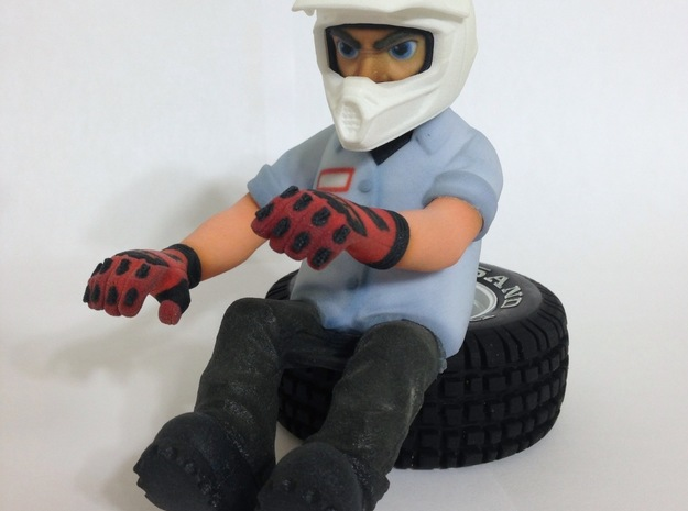 "WW10012 Wild Willy Moto Colour Printed Face 3d printed Complete figure - click ""Add Set to Cart"" below to buy all parts needed to complete the figure"