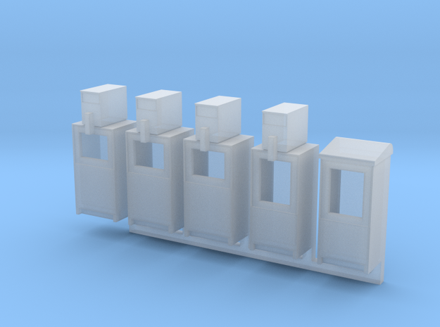 Newspaper Boxes in O scale in Smooth Fine Detail Plastic