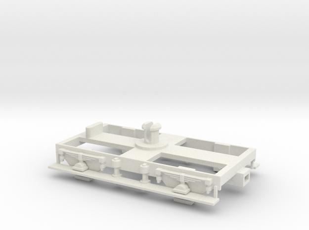 "Dean 8' 6"" (Version 1) Bogie-Hornby fit in White Natural Versatile Plastic"