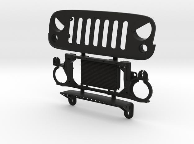 AJ30002 EVIL eye grill & mount in Black Strong & Flexible